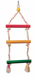 "(B1102) Junglewood 3-Step Rope Ladder, Large, 8"" x 21"""