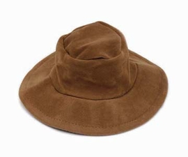 Steppin Out Dog Hats Brown FauX Suede Hat