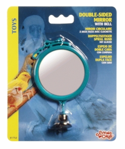 (B1752) Living World Double Sided Mirror w/ Bell
