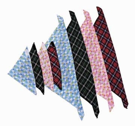 Steppin Out Bandana - Red Plaid Print Small To 14 inch Neck