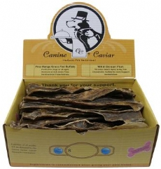 Canine Caviar Treat Buffalo Jerky 12 inch 30 Piece