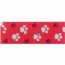 Hagen Dogit Style Adjustable Nylon Collar with Plastic Snap and ID Plate- Footloose Red on Red Nylon X-Large 1 X 18 - 26 inch