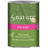 By Nature Natural 95% Meat Beef Formula Canned Dog Food 12/13-oz cans.