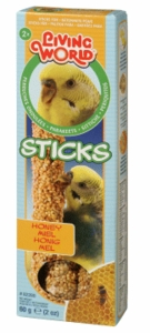 Living World Parakeet Honey Stick, Baked, 2.1 oz.