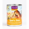 Halo Spot's Stew For Dogs Wholesome Chicken Recipe Canned Dog Food 12 / 13 oz Cans