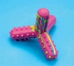 Rubber Dog Toy - Assorted Colors 4 Inch