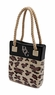 Steppin Out Vinyl Tote Bag - Leopard Print