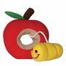 Hagen Dogit Plush Worm Red Apple Fruity Toy