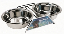 Dogit Stainless Steel Double Dog Diner, X-Large