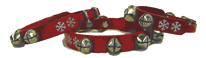 Christmas Jingle Bell Collars for Medium Dogs