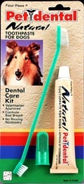 Four Paws Pet Dental Natural Care Kit for Dogs