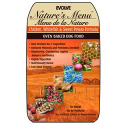 Nature's Menu Chicken, Whitefish & Sweet Potato Baked Dog Food (8-lb bag)