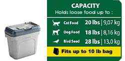 Rubbermaid Pets Scoop'n Store Pet Food Storage Container (10lbs food)