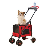 3 in 1 Pet Stroller by Four Paws in Red