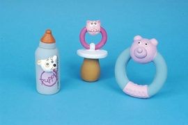Puppy Polyester Filled Latex Toy - Teething Ring