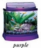 Mini Bow 5 Gallon Bow Front Acrylic Aquarium Kit Purple