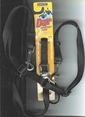 "Double Doggie Adjustable Leash 5/8"" x 6Ft Black by Aspen Pet"