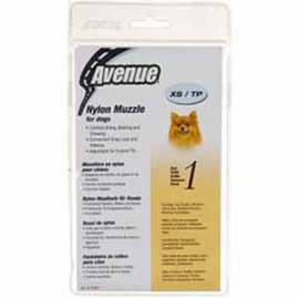 Avenue Nylon Dog Muzzle, Size 1, Black