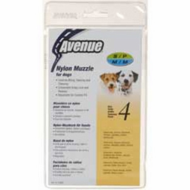 Avenue Nylon Dog Muzzle, Size 4, Black
