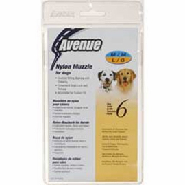 Avenue Nylon Dog Muzzle, Size 6, Black