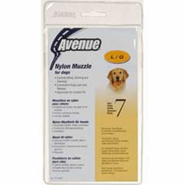 Avenue Nylon Dog Muzzle, Size 7, Black