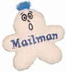 Kyjen Plush Puppies Funny Fleece Mailman