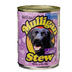 Mulligan Duck Stew Canned Dog Food 12/13-oz