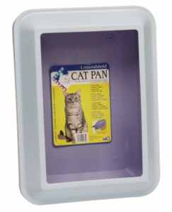 Catit Littershield Cat Pan Set, Large, Marble Blue/Violet