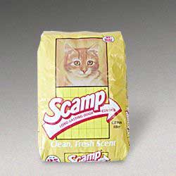 Scamp Litter Yellow Bag 50 Lb Bag