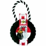 Dogit Jawz Rubber Paw Print Tire, Black with White Rope, Medium