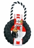 Dogit Jawz Rubber Paw Print Tire, Black with White Rope, Large