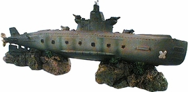 Sunken WW II Submarine Ornament from Quantum Aquatics