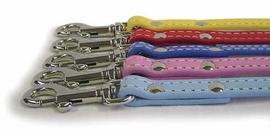 Dover Court Leather Dog Leashes in Five New Colors from Auburn Leathercrafters
