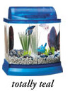Mini Bow 2.5 Gallon Bow Front Acrylic Aquarium Kit Teal