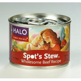Halo Spots Stew For Cats Homestyle Beef and Chicken Recipe Canned Cat Food 12 - 5 oz Cans