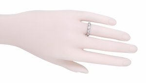 Art Deco Devon Antique Filigree Diamond Wedding RIng in Platinum - Size 6 1/4 - Item R1099 - Image 1