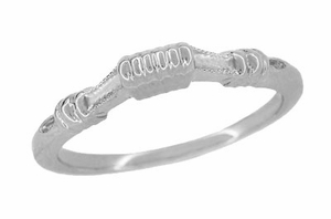 Art Deco Harvest Bands Wedding Ring in Sterling Silver - Click to enlarge