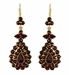 Victorian Bohemian Garnet Teardrop Earrings in 14 Karat Yellow Gold and Sterling Silver Vermeil