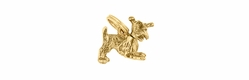 Moveable Schnauzer Charm in 14 Karat Yellow Gold