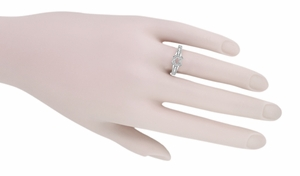 X & O Kisses 1/2 Carat Diamond Engagement Ring Setting in Platinum - Item R1153P50 - Image 5