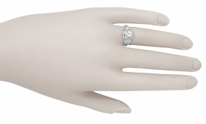 Art Deco Filigree Vintage Diamond Engagement Ring in Platinum - Click to enlarge