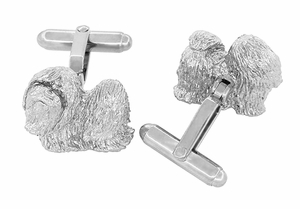 Shih-Tzu Cufflinks in Sterling Silver - Item SCL232W - Image 2