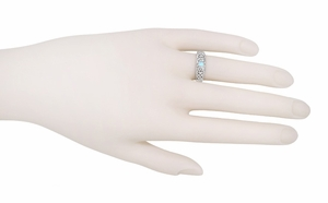 Filigree Sky Blue Topaz Ring in Sterling Silver - Item SSR197BT - Image 2