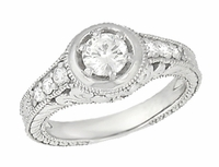 flower scroll diamond wedding ring