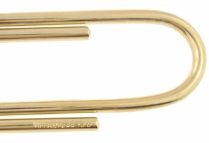 Tiffany & Co. Vintage Paper Clip Money Clip in 14 Karat Gold  - Item MC109 - Image 1