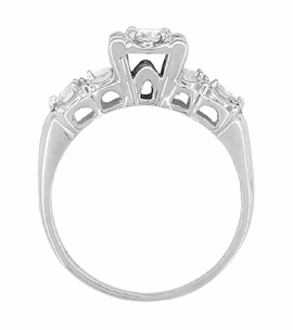 Retro Moderne Antique Diamond Engagement Ring in 14 Karat White Gold - Item R603 - Image 3