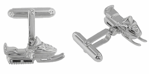 Snowmobile Cufflinks in Sterling Silver  - Item SCL175 - Image 1