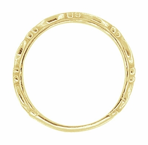 Art Deco Scrolls Wedding Band in 14 Karat Yellow Gold - Item R639Y - Image 1