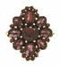 Victorian Style Bohemian Garnet Cocktail Ring in 14 Karat Gold and Sterling Silver Vermeil