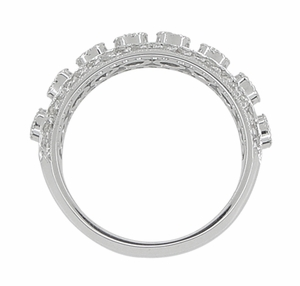 Galaxy of Love Diamond Anniversary / Wedding Band in 14 Karat White Gold - Item R820 - Image 2